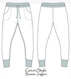 Best Loungewear Sewing Patterns For Tweens | Brassie Joggers by Greenstyle(size x-x)