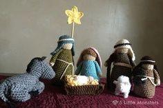 5 Little Monsters: Crocheted Nativity Set...Free pattern!!