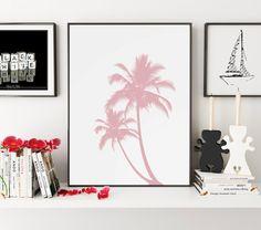 California Art, Palm Print, Pink Decor, Palm Tree Art, Palm Wall Art, California Wall Art, California Wall Print, Pink Home Decor