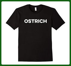 Mens Ostrich T-Shirt Distressed retro word design Large Black - Retro shirts (*Amazon Partner-Link)
