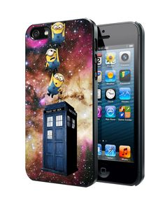 Minions Drop to Tardis Samsung Galaxy S3/ S4 case, iPhone 4/4S / 5/ 5s/ 5c case, iPod Touch 4 / 5 case