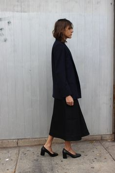 proportions + stacked heels   @andwhatelse