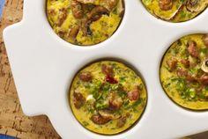 Turkey Sausage Mini Quiche  | breakfast | brunch | Easter | #JennieO | turkey sausage | http://www.jennieo.com/recipes/573-Turkey-Sausage-Mini-Quiche