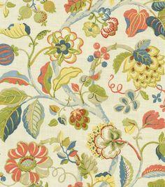 Kitchen Valance Fabric Home Decor Print Fabric-Pkaufmann Sea Breeze Patriot, , hi-res