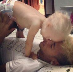 Neymar and son