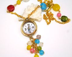 Steampunk Necklace Working Compass Vintage by DesignsBloom on Etsy, $43.50