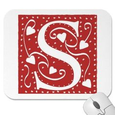 Cute monogrammed mouse pad. :-)