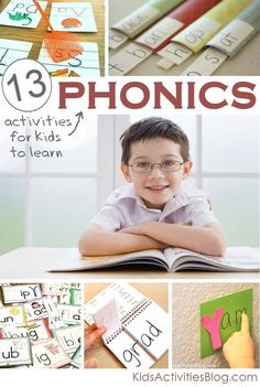 Phonics Pin 1. Phonics activities that include multiple activities and methods to use to help students learn phonics. One example is pull-out strips to help kids sound out words.  As they pull the paper more of the word is revealed for them to sound it out.