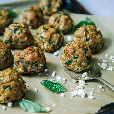These Basil Chicken Meatballs are an excellent source of iron and one of the best dietary sources of choline.