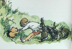 classic pooh stuck in hole - Google Search