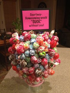 Easy and cute way to ask someone to Homecoming!  Or find a different reason to give these. Cute gift!