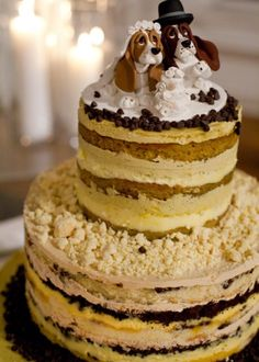 Momofuku Milk Bar in NYC: Milk Bar tiered wedding cake in pistachio and chocolate chip. Milk Bar wedding cakes are unique! they have unfrosted sides to highlight all of the delicious fillings layered inside. Tier flavors can be mixed and matched. Momofuku Cake, Momofuku Milk Bar, Dog Cakes, Cupcake Cakes, Cupcakes, Chocolate Malt Cake, Chocolate Chips, Milk Bar Cake, Chocolates