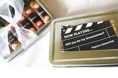 Will you be my Groomsmen??? Best Man...? Ring Bearer? What a fun and unique way to ask your friends/family to be part of your big day!  A collection of fun and unique popcorn seasoning, packaged in clear food grade glass, all in a metal gift box with a fun Movie Sign label! Each jar has a mini movie ticket stub label... How fun!!  at checkout, please write down the SIX FLAVORS you want in your kit plus TWO extras in case I need to make substitutions. If no choice is made, I will send you the…