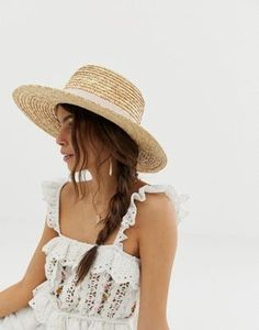 Find the best selection of ASOS DESIGN natural straw easy boater with size adjuster and light band. Shop today with free delivery and returns (Ts&Cs apply) with ASOS! Asos, Lights Band, Felt Cowboy Hats, Bikini Triangle, Boater Hat, Haut Bikini, Stylish Hats, Outfits With Hats, Vacation Dresses
