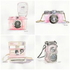 The Pink Camera Series Prints