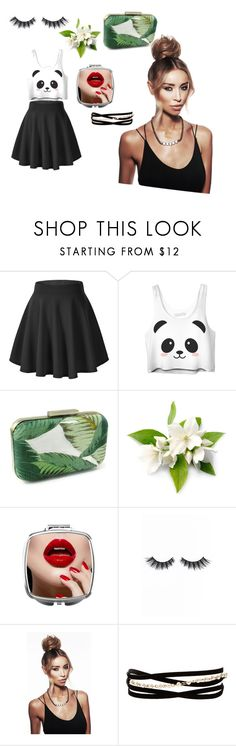 """""""Panda outfit a quirky outfit u be ur self in"""" by nannersevans ❤ liked on Polyvore featuring Violet Voss and Kenneth Jay Lane"""