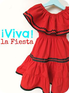 homemade by jill: fiesta dress- it would be fun to do a cultural series/dress up and also nice enough to wear out.