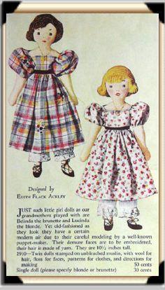 Edith Flack Ackley doll pattern