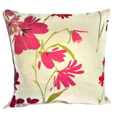 John Lewis floral cotton sateen cushion cover with zip fastening 35cm £8.95 available now from my Wow Thank You store #wowthankyou #craftfest #handmadebot