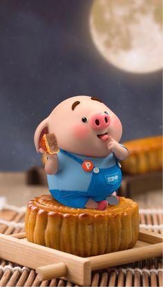 Pig Wallpaper, Disney Wallpaper, This Little Piggy, Little Pigs, Cute Rabbit Images, Kawaii Pig, Pigs Eating, Cute Piglets, 3d Art