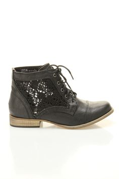 lace insert booties $30