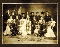 LARGE PORTRAIT 8 X 10 VICTORIAN WEDDING CABINET PHOTO WOW!