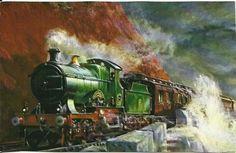George Churchward Train from London to by postcardsintheattic New Listing: #postcard #ephemera #antique #vintage #vintagepaper #etsy #antiquepaper #collectible #antiquepostcard #vintagepostcard #Railroad #SteamEngine #Train #Railway