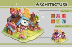 ArtStation - cartoon architechture, Martin Gao 's Students