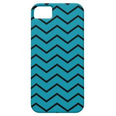 Teal and Black Chevron iPhone Case Cover For iPhone 5/5S