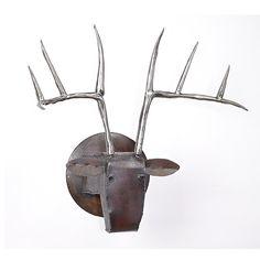 Large Deer Head by Ben Gatski and Kate Gatski: Metal Wall Art available at www.artfulhome.com