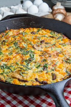Butternut Squash, Mushroom, Sausage and Kale Frittata