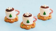 Christmas Treats - Hot Cocoa Marshmallow Cookie Cups - Kitchen Fun With My 3 Sons Best Christmas Recipes, Christmas Snacks, Christmas Cooking, Noel Christmas, Christmas Goodies, Christmas Candy, Holiday Treats, Christmas Crafts, Xmas