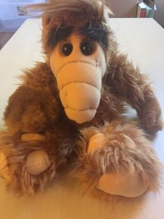 """Vintage 18"""" ALF Plush Alien Life Form Stuffed Animal Coleco Doll Alien Products 