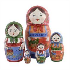 "Traditional Matryoshka ""Apples""    FromRussia.com"