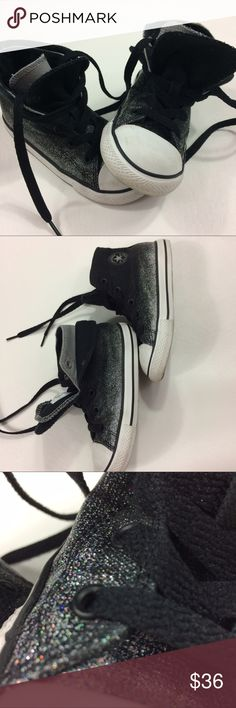 Glitter Hi Top Converse Please see photos Converse Shoes Sneakers