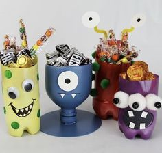 #Halloween #upcycling PET bottles
