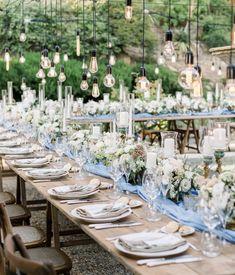 wedding dinner, flowers and bulb, wedding in tuscany, tuscan wedding, tuscan wedding flowers Tuscan Wedding, Wedding Dinner, Wedding Story, Tuscany, Destination Wedding, Wedding Flowers, Table Settings, Reception, Villa