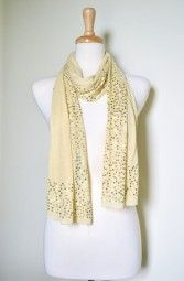 Bright colors and sparkle is a combination made in heaven, especially when it's done on soft cotton.  This scarf is the ultimate accessory this spring/summer season, adding a pop of color and glam to your look from day-to-night. $19.99 Use code PINIT at checkout for 10% off your entire order.