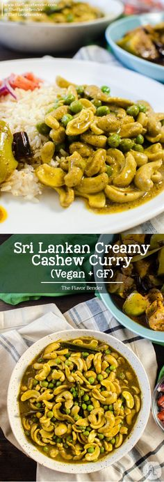 A uniquely flavorful way to enjoy cashew nuts; creamy, nutty, spiced Sri Lankan cashew curry that's full of great flavor. Gluten free and vegan too! Sri Lankan food | Cashews | Vegan | Curry | Coconut | Vegetarian | Gluten free via @theflavorbender
