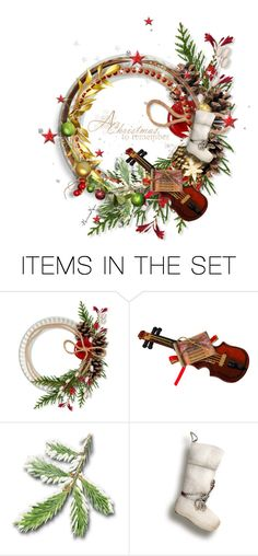 """""""Mom's Christmas Wreath"""" by nonniekiss ❤ liked on Polyvore featuring art, Christmas and artexpression"""