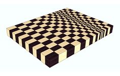 A 3D end grain cutting board #9