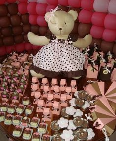 Adorable Pink and Brown Baby Shower Ideas