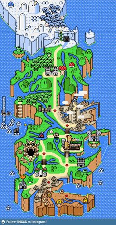 Mapa de Westeros de Game of Thrones + mapa do Super Mario World
