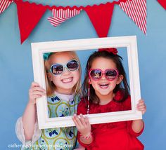Shrink down a photo booth and let the kids pose away!