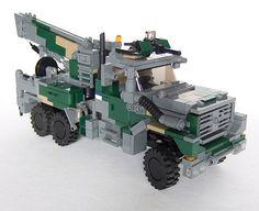 Lego military pickup truck