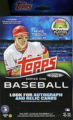Wowzzer MLB Topps Series 1 Baseball Factory Sealed Hanger Box with 72 Cards and Special Yellow Bordered Parallel Cards