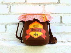 Honey Pot Purse Felt Bag by krukrustudio on Etsy