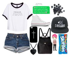 """""""And my strung out heart needs your angel eyes"""" by zachi15 ❤ liked on Polyvore featuring H&M, Converse, Casetify and Dolce&Gabbana"""