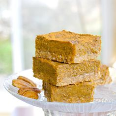Oatmeal Pumpkin Bars (vegan & gluten-free)