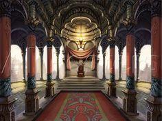 Throne Room Fantasy castle Throne room Fantasy landscape
